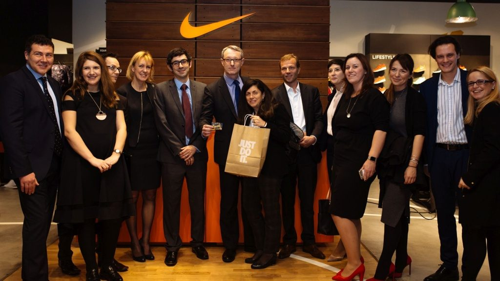 Mastercard Team at the first retailer